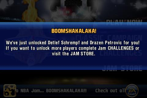 NBA Jam iPhone Bonus unlocks