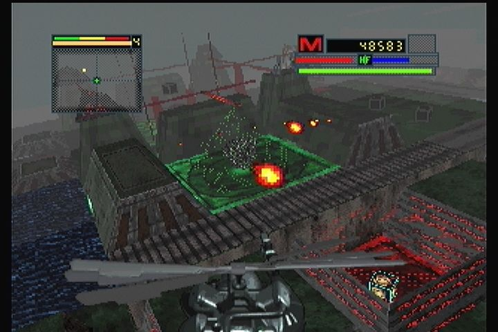 Blade Force 3DO Wearing down the bosses' defenses.