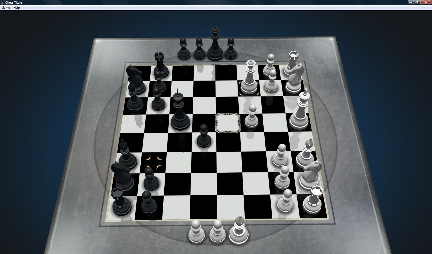 Microsoft Windows Vista (included games) Windows Chess Titans - Porcelain board