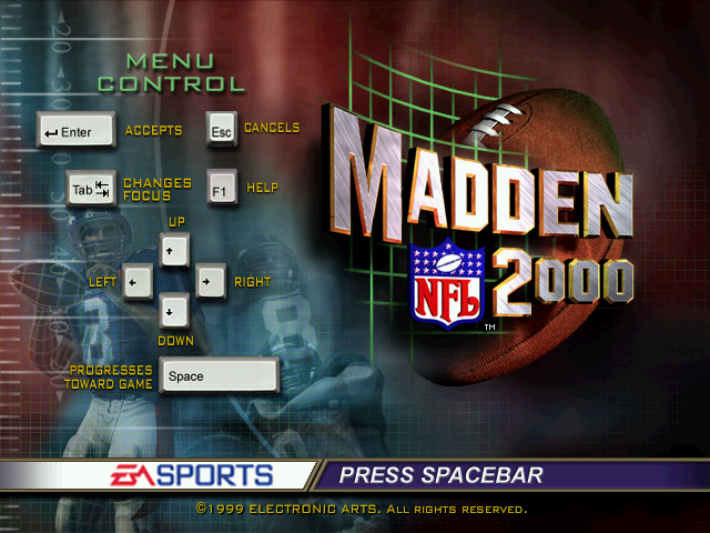 Madden NFL 2000 Windows Title screen