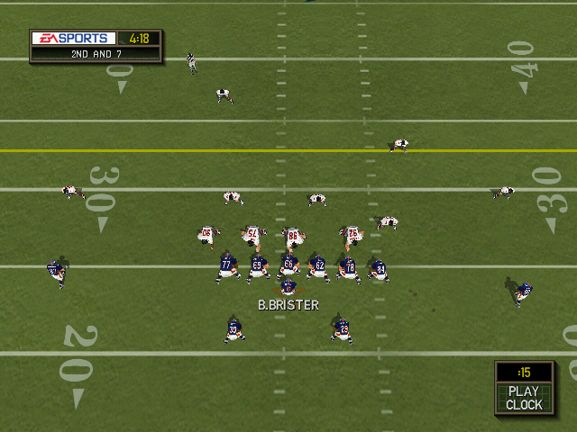Madden NFL 2000 Windows The no-frills overhead camera view.