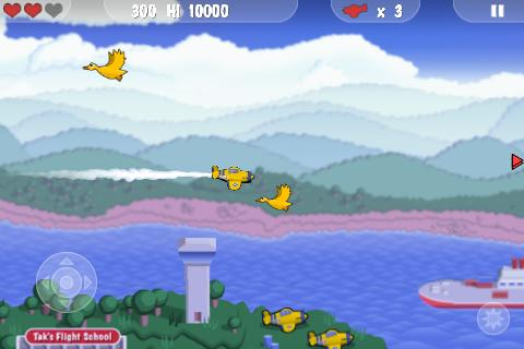 MiniSquadron iPhone Game start - Duck Island