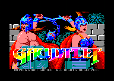 Gauntlet: The Deeper Dungeons Amstrad CPC Title screen