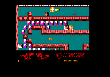 Gauntlet: The Deeper Dungeons Amstrad CPC In game.