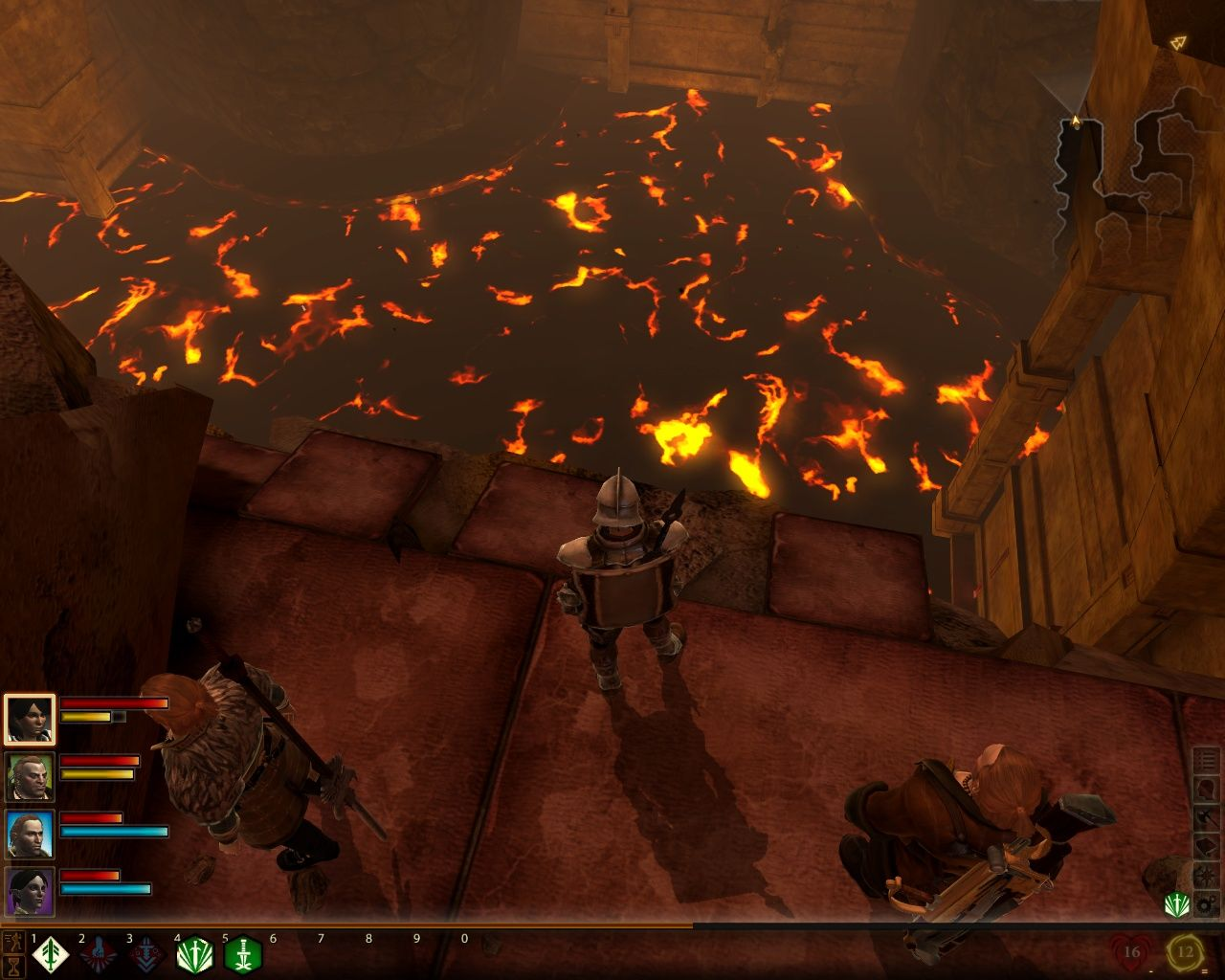 Dragon Age II Windows That's a lot of lava, guys. Wouldn't want to fall down there, now would we?
