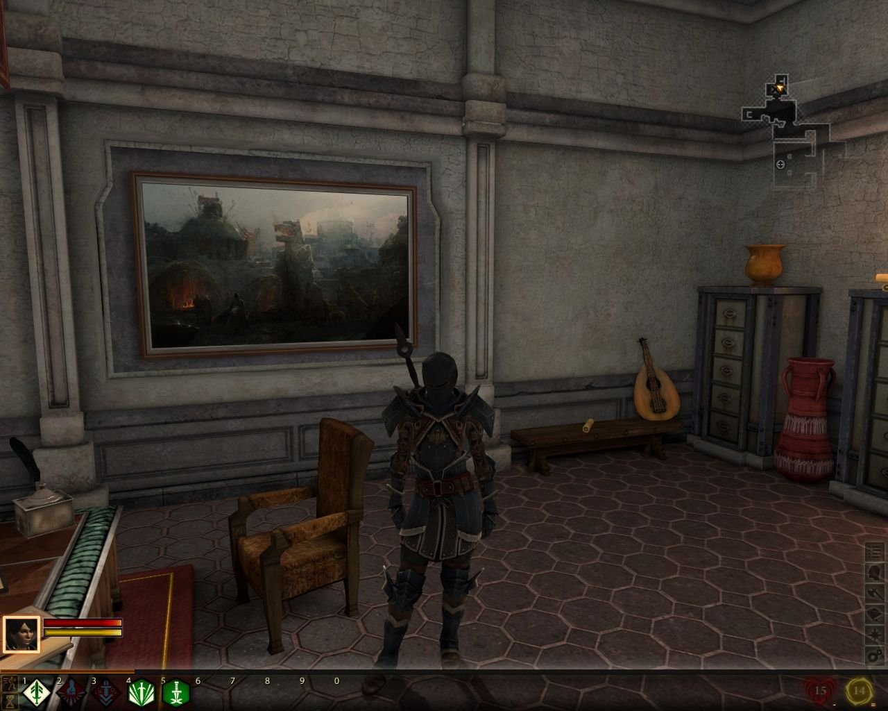 "Dragon Age II Windows The viscount is a wicked guitar player, I'm telling you. He can do a badass solo on ""Giant Steps"""
