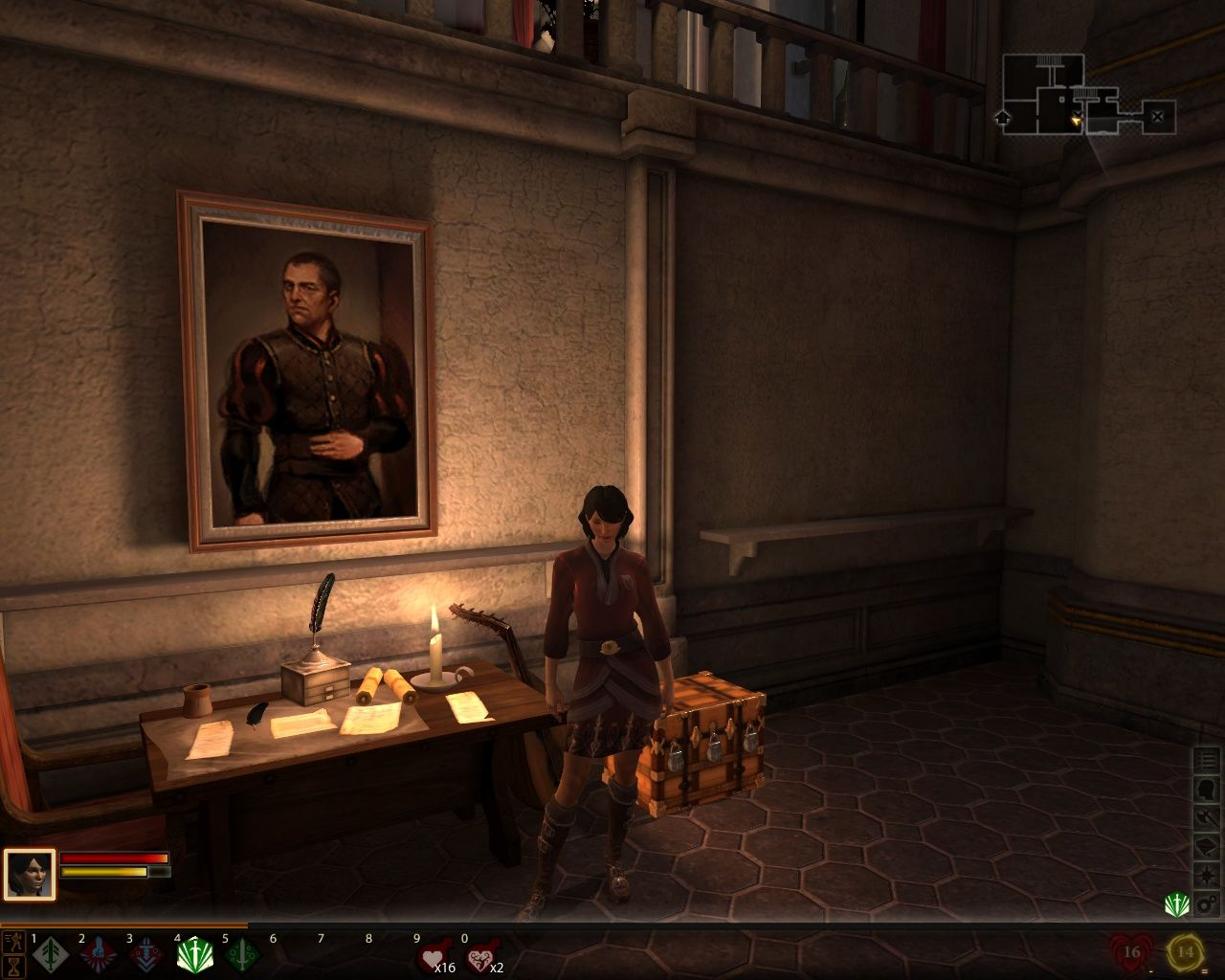Dragon Age II Windows As you complete quests, you become wealthier. You move to your own Hawke estate. Looks lovely, don't you think?