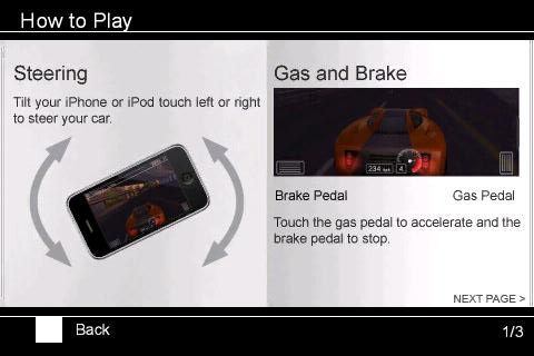 Fastlane Street Racing iPhone Instructions 1