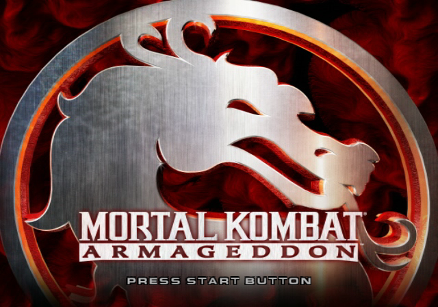 Mortal Kombat: Armageddon PlayStation 2 Title screen.
