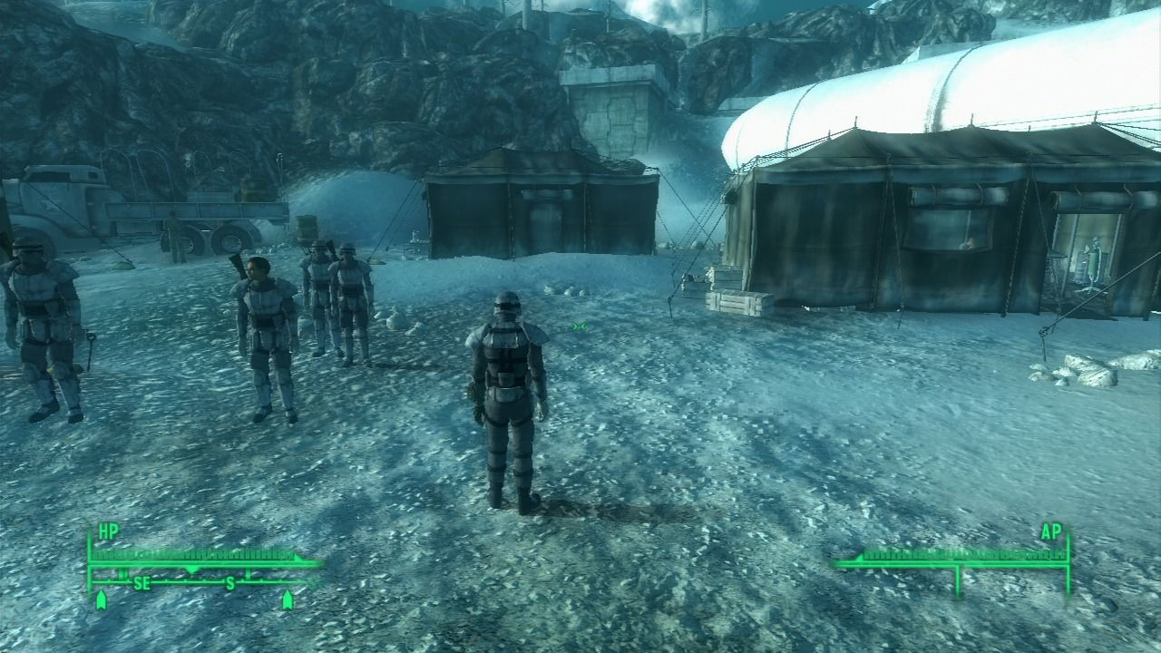 Fallout 3: Operation: Anchorage PlayStation 3 A view from the 3rd-person perspective.