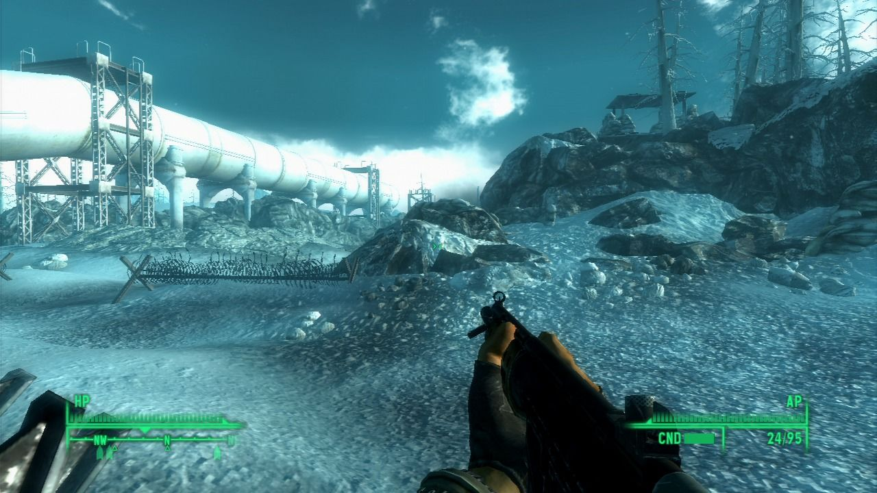Fallout 3: Operation: Anchorage PlayStation 3 Leaving the base camp and heading into the enemy territory.