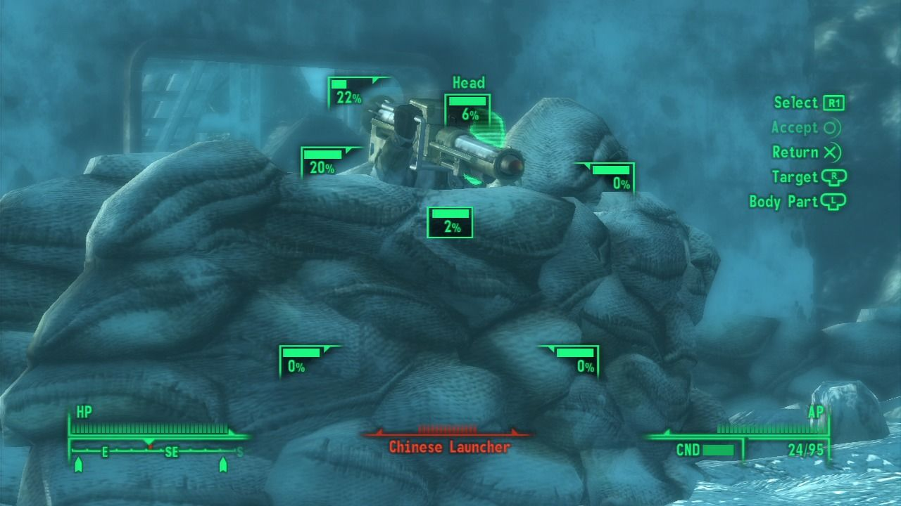 Fallout 3: Operation: Anchorage PlayStation 3 Even with V.A.T.S. mode it is an impossible hit.