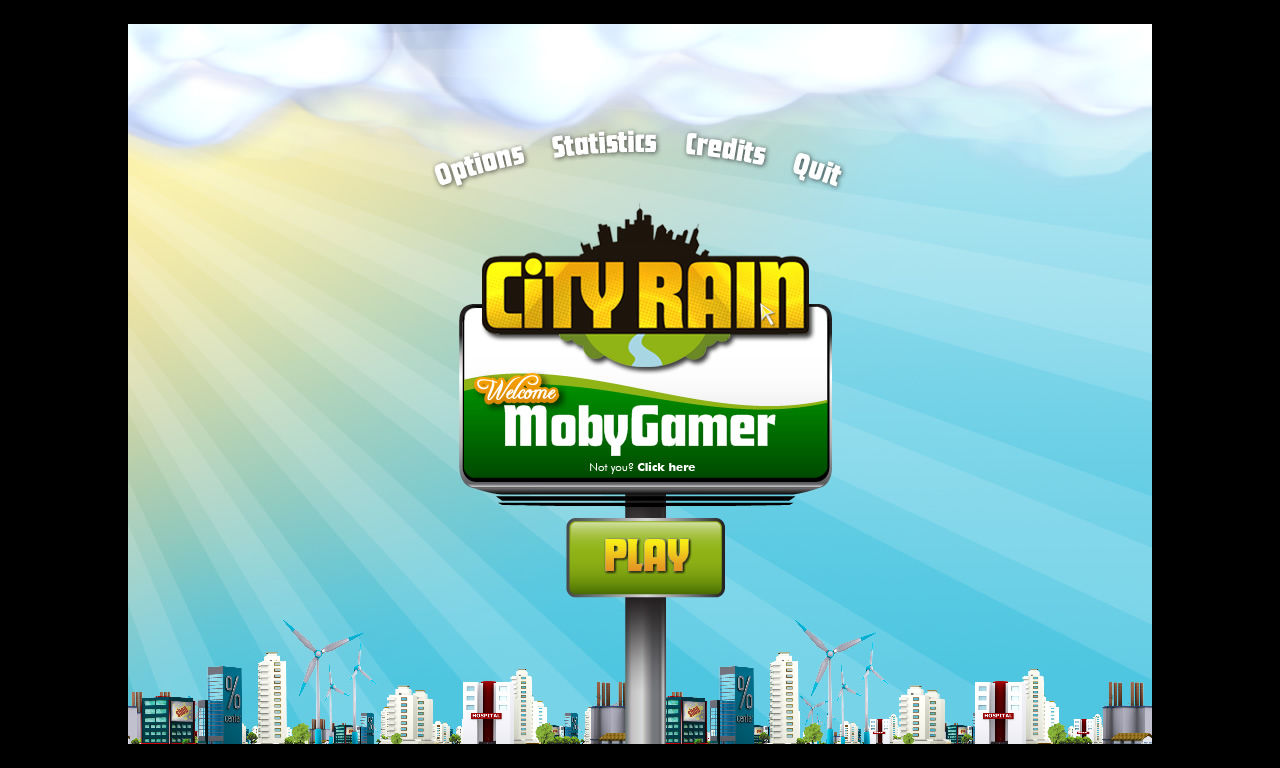 City Rain Windows Opening screen