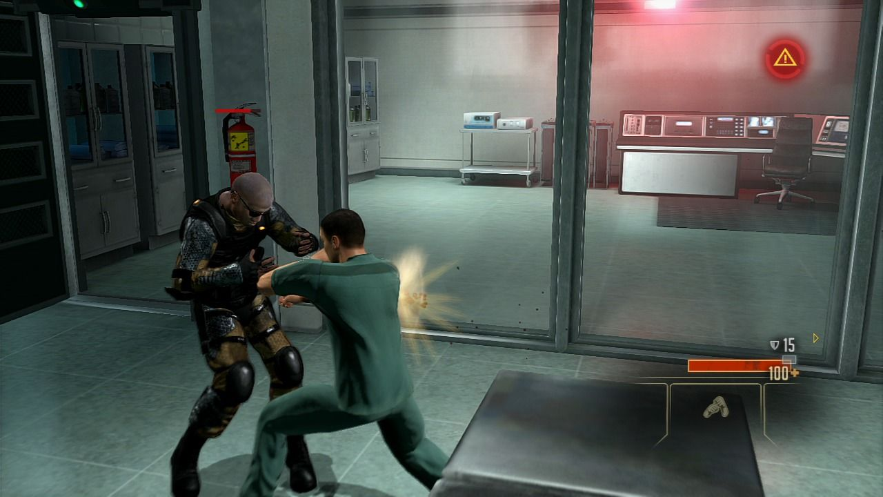 Alpha Protocol PlayStation 3 Time to take out the guard.