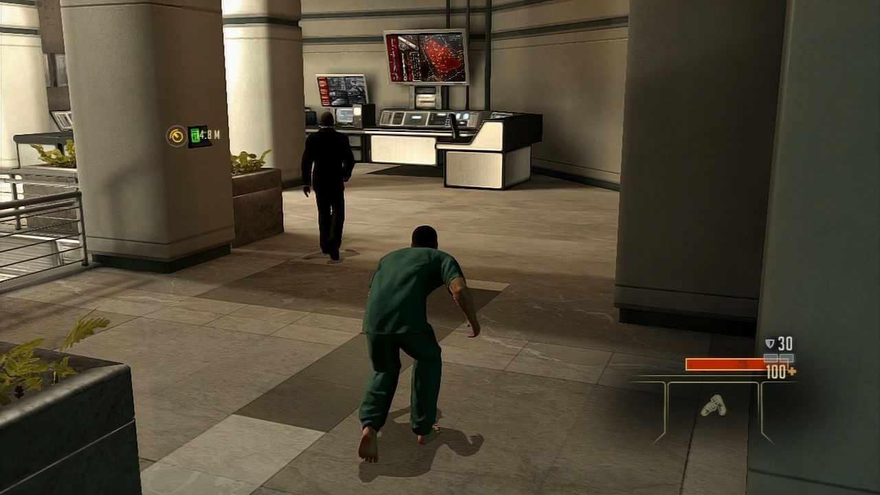 Alpha Protocol PlayStation 3 Walk in crouch mode to sneak up to your prey.
