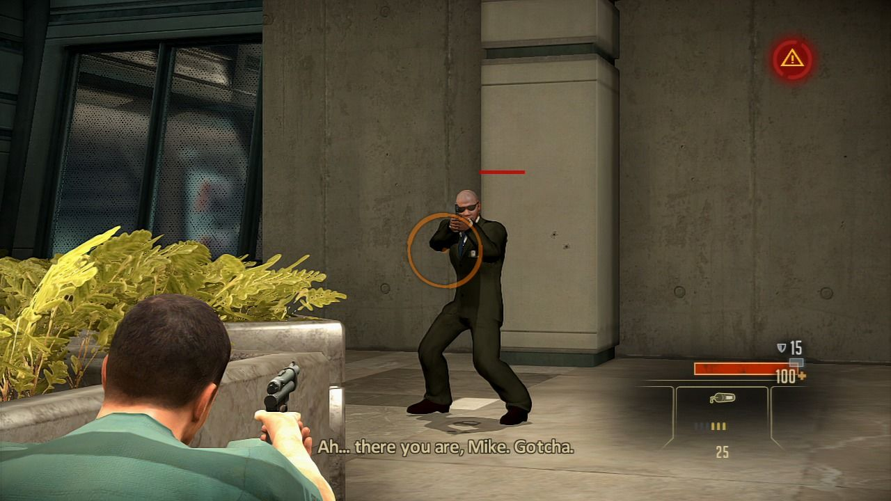 Alpha Protocol PlayStation 3 Shooting from the cover.