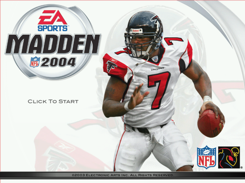 Madden NFL 2004 Windows Title screen