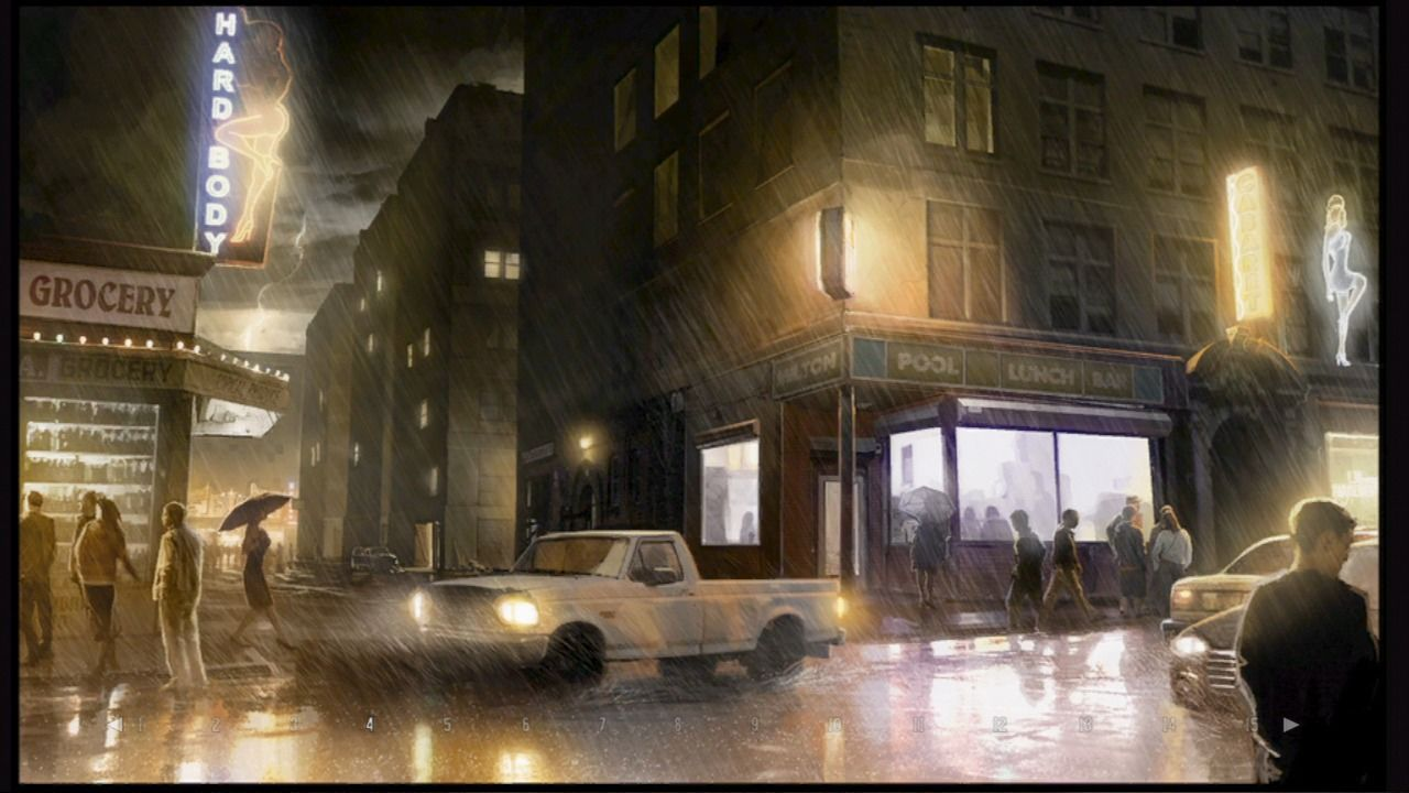 Heavy Rain PlayStation 3 There's plenty of unlockable artwork in the extras section.