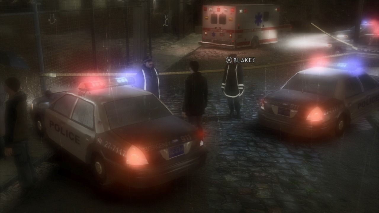 Heavy Rain PlayStation 3 Arriving at the crime scene.