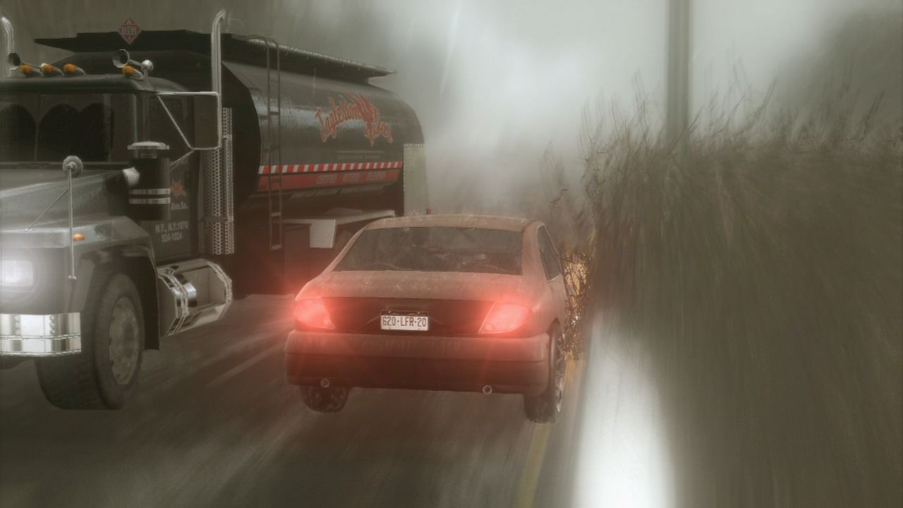 Heavy Rain PlayStation 3 Driving the wrong way on the highway, and there's not time to slow down.