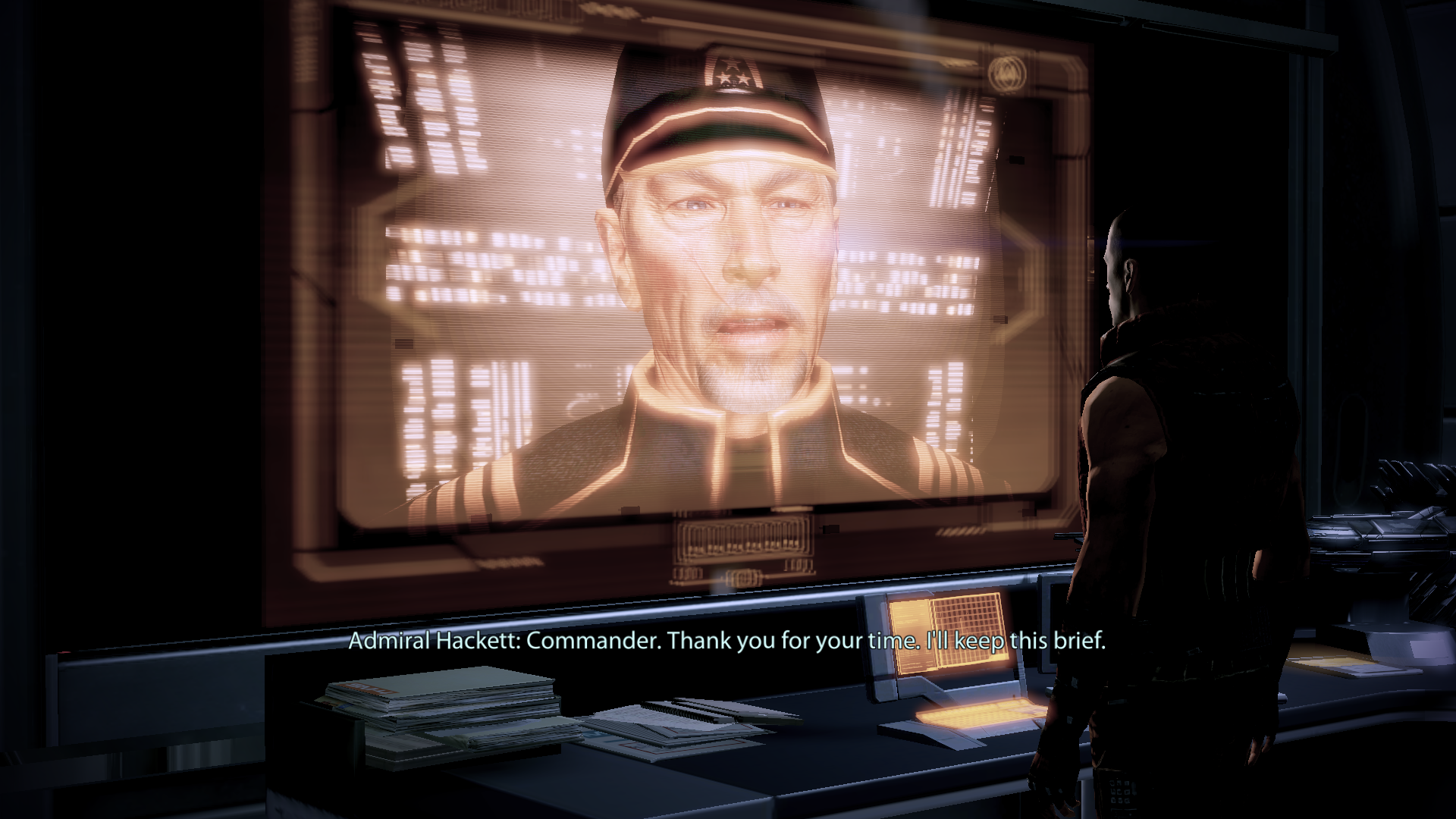 Mass Effect 2: Arrival Windows Request from admiral himself. Nobody could say 'no'.