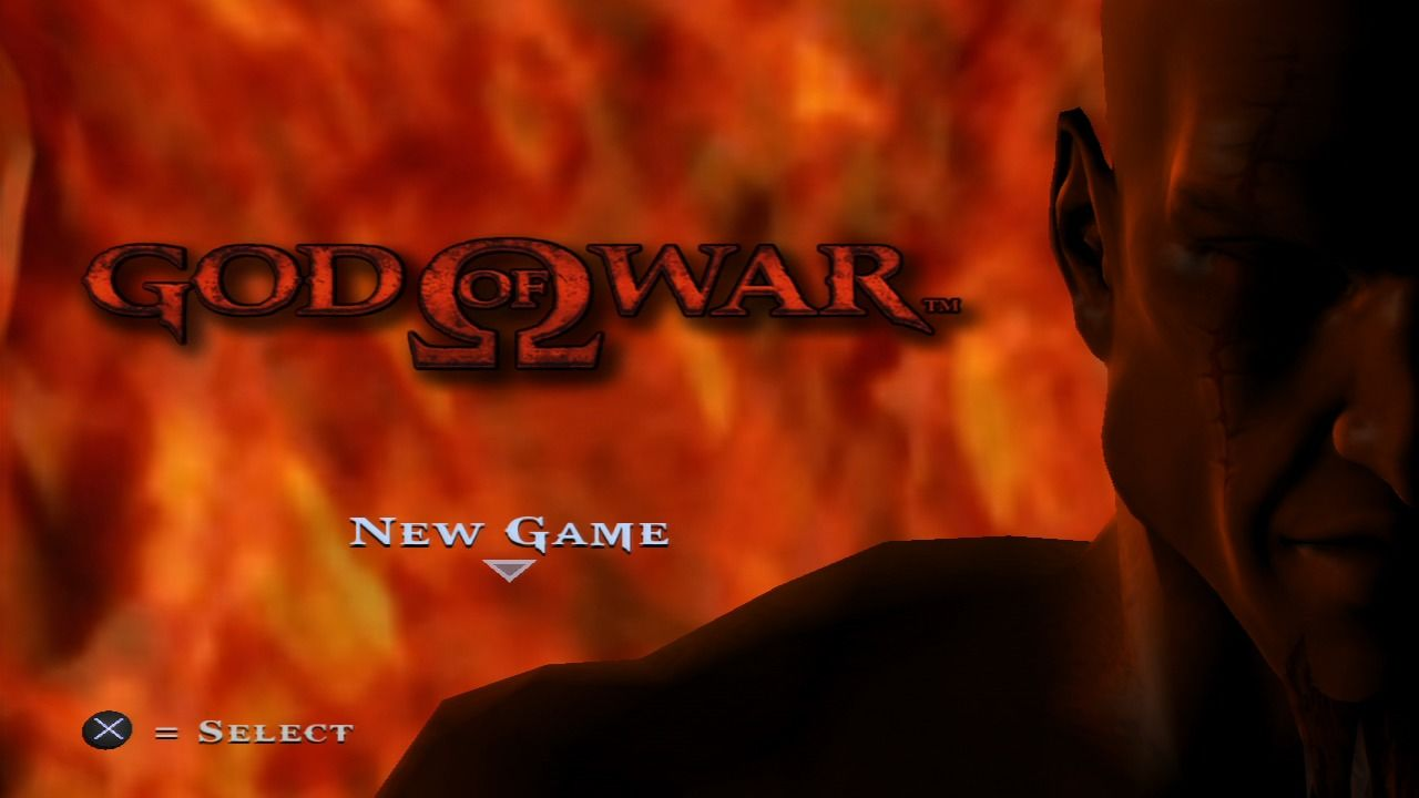 God of War PlayStation 3 Main menu