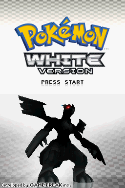 Pokémon: White Version Nintendo DS Title screen.