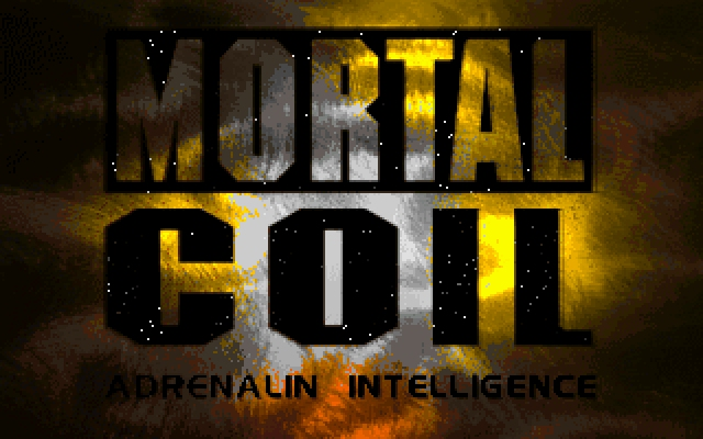 Mortal Coil: Adrenalin Intelligence DOS Logo