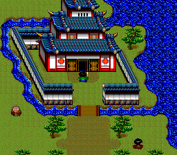 Tengai Makyō: Ziria TurboGrafx CD The cities are large; capitals are decorated by castles