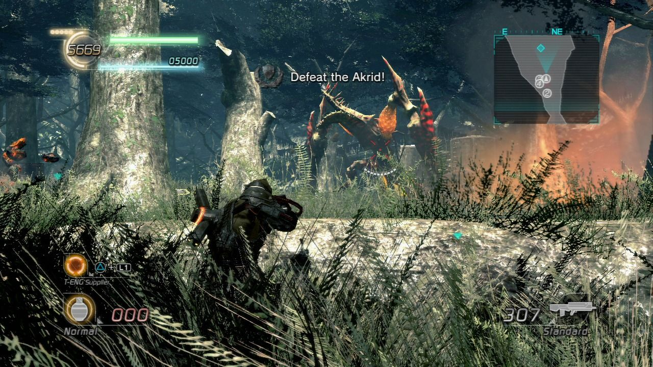 Lost Planet 2 PlayStation 3 Through the lush vegetation fighting the Akrid who act strange due to the jungle heat.