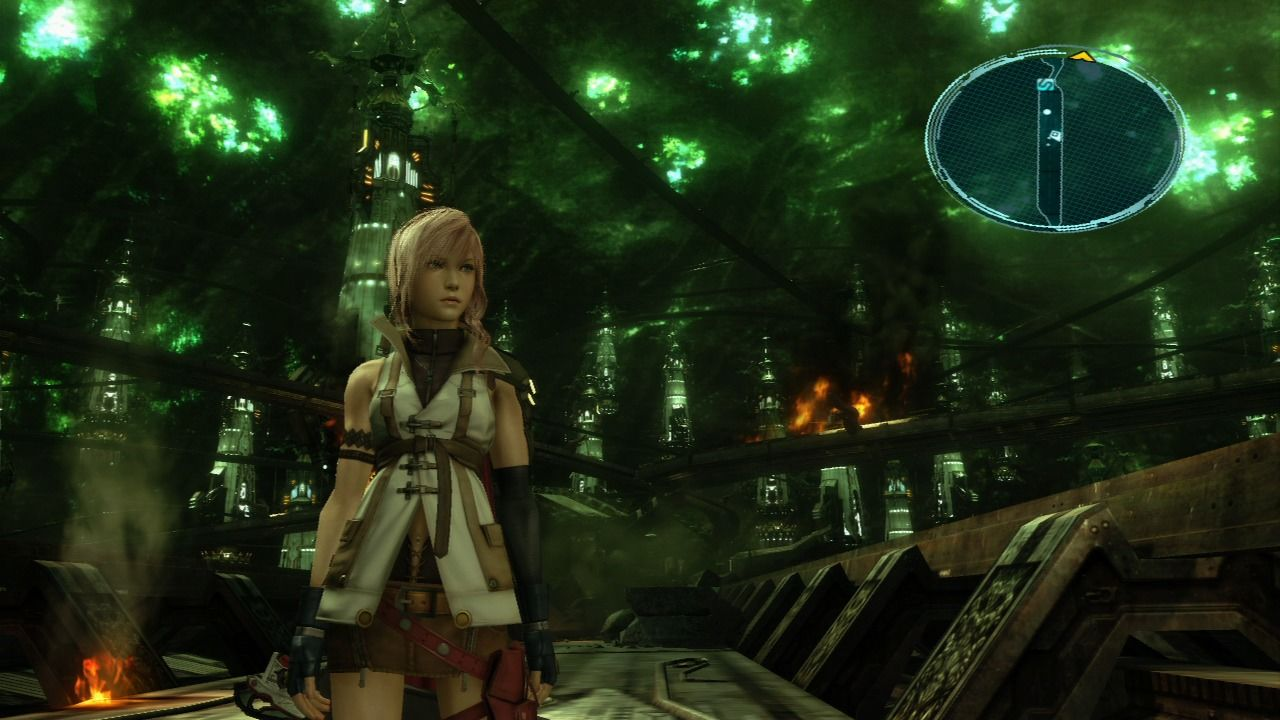 Final Fantasy XIII PlayStation 3 You start your exploration after the train crashes and you deal with the invaders.
