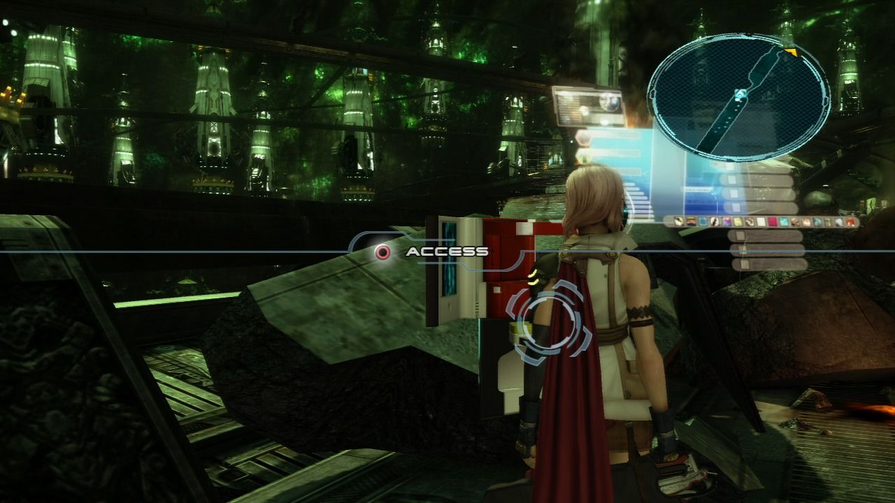 Final Fantasy XIII PlayStation 3 Access savepoints to buy/sell or save your progress.
