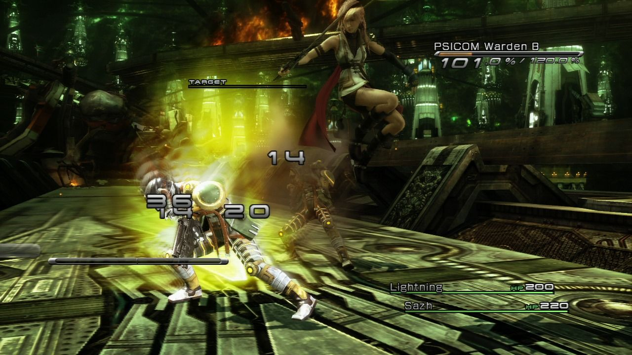 Final Fantasy XIII PlayStation 3 Lightning is very agile, anytime, anywhere.