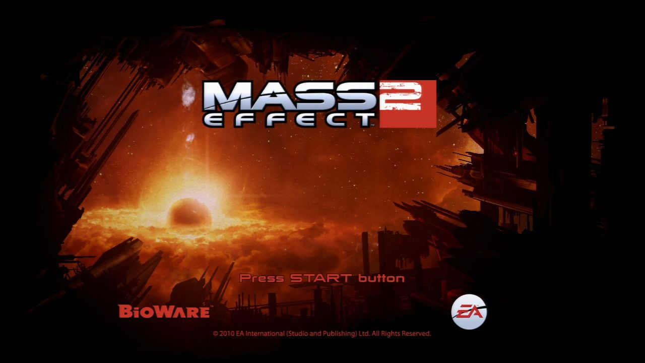 Mass Effect 2 PlayStation 3 Mass Effect 2 - Start screen