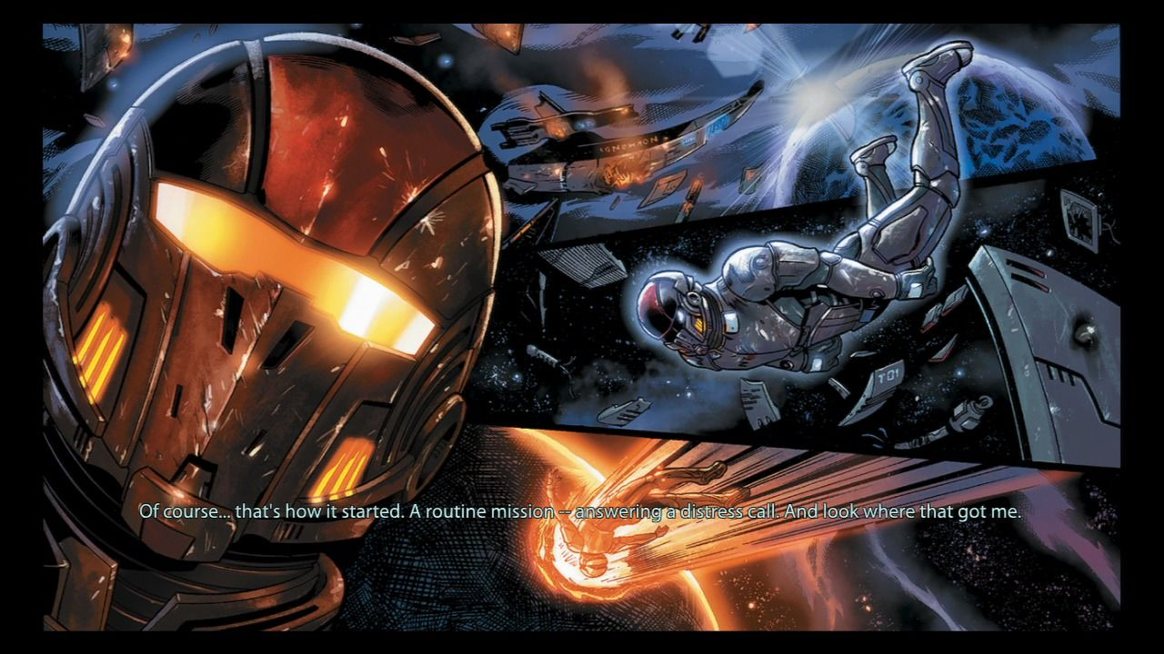 Mass Effect 2 PlayStation 3 And interactive comic tells the story of the original Mass Effect game.
