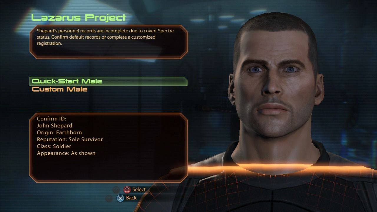 Mass Effect 2 PlayStation 3 Mass Effect 2 - Generating your character
