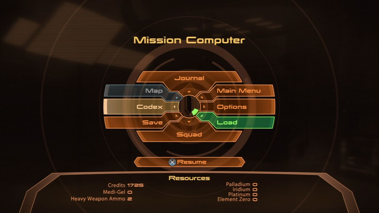 Mass Effect 2 PlayStation 3 Mass Effect 2 - Mission computer lets you check out codex, map, journal, upgrade your character's skills and more