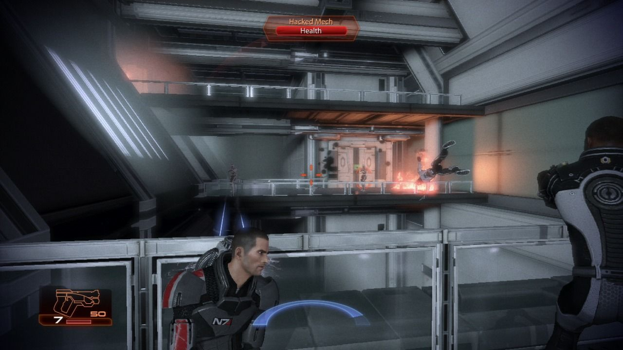 Mass Effect 2 PlayStation 3 Your squad members will aid you in battle automatically or you can give them commands.