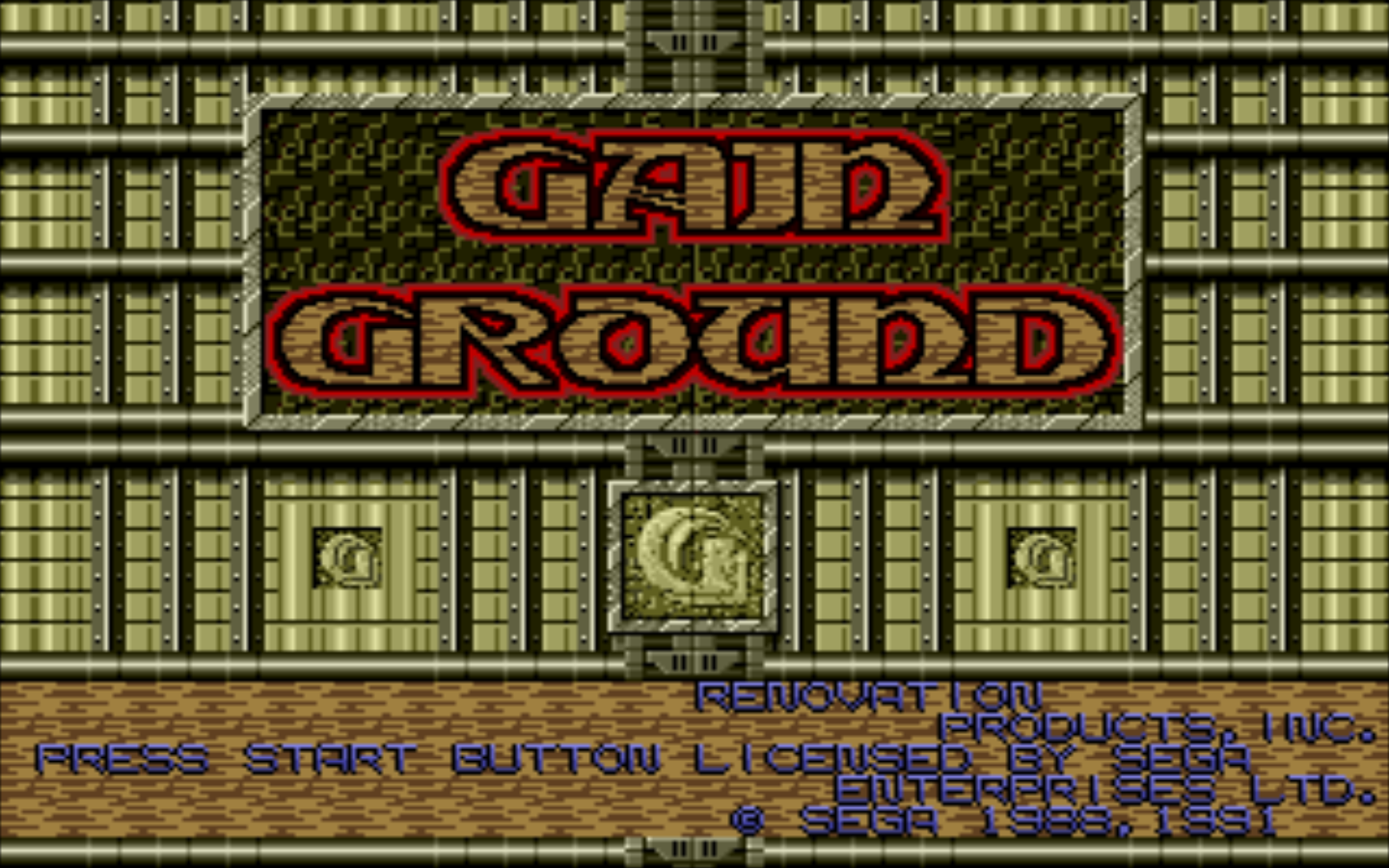 Gain Ground Windows Title screen
