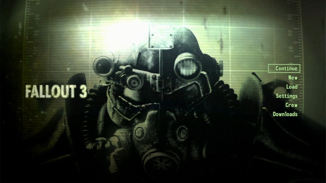 Fallout 3 PlayStation 3 Main menu.