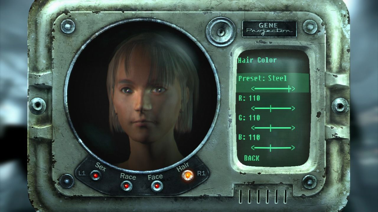 Fallout 3 PlayStation 3 Creating your character.