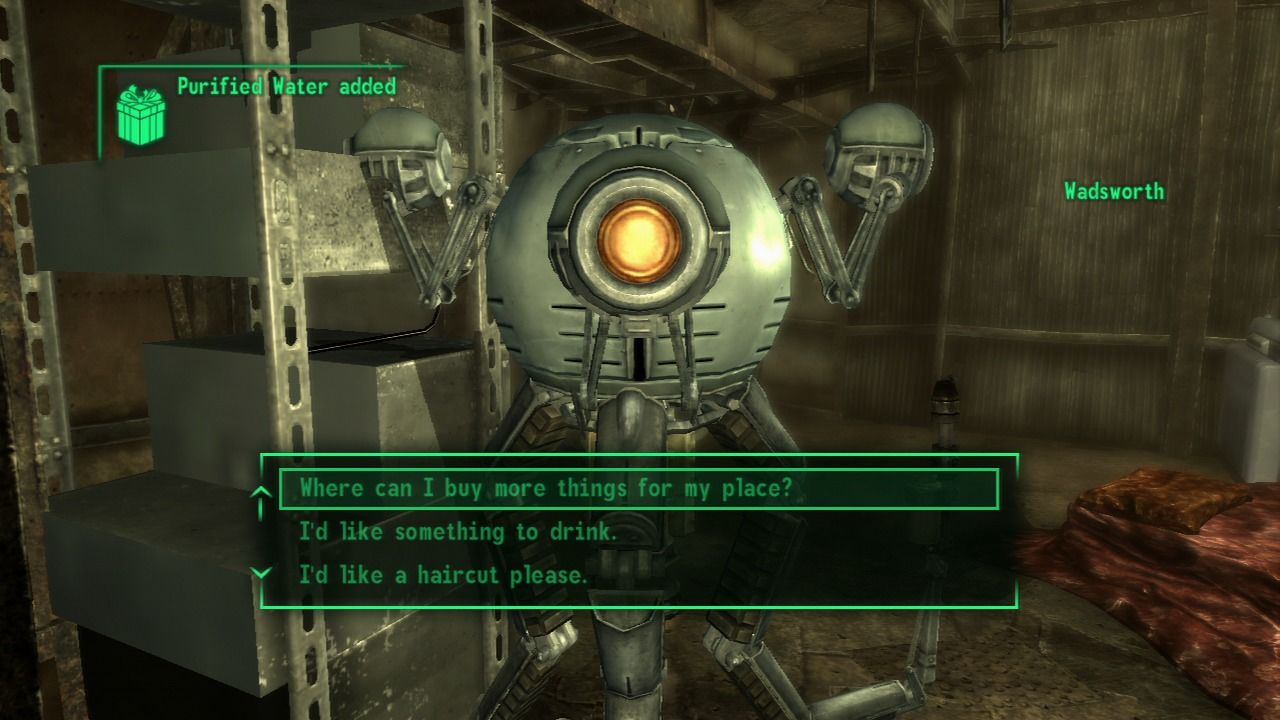 Fallout 3 PlayStation 3 Your personal butler droid tells some mean jokes.