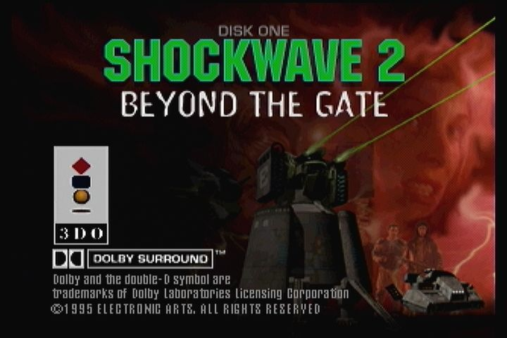 Shock Wave 2: Beyond the Gate 3DO Title screen