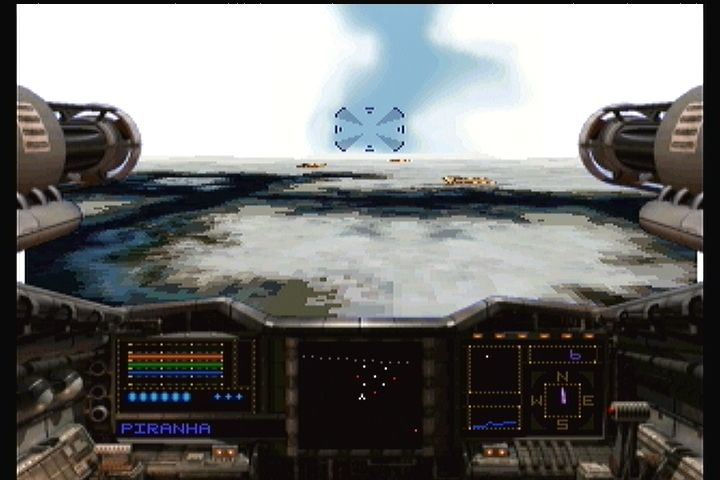 Shock Wave 2: Beyond the Gate 3DO Hitting a new planet in the fighter.