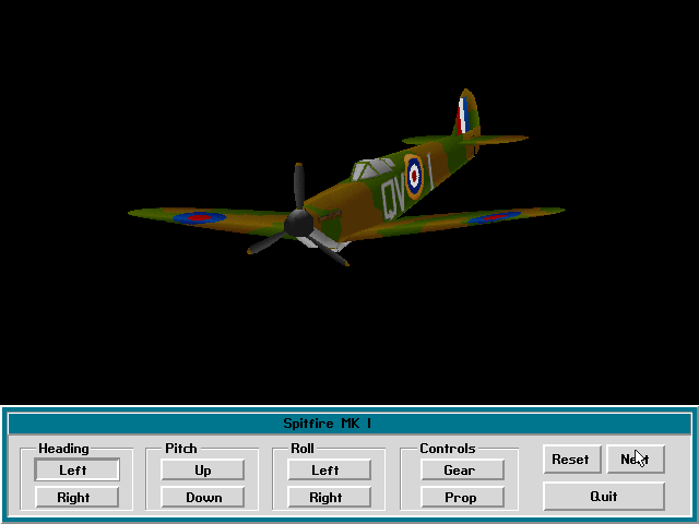 Fighter Duel DOS Plane review - Spitfire MK I