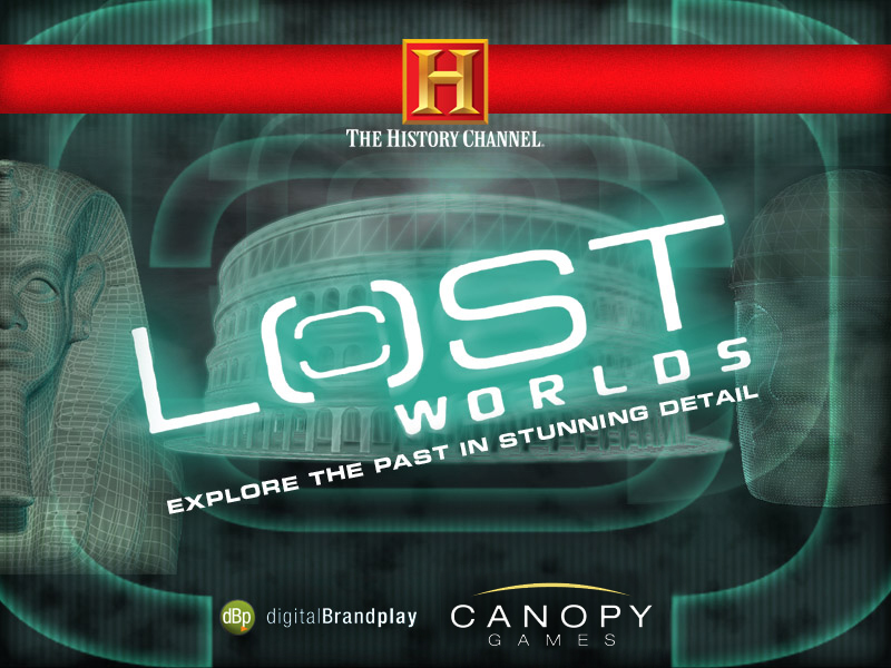 The History Channel: Lost Worlds Windows Title screen