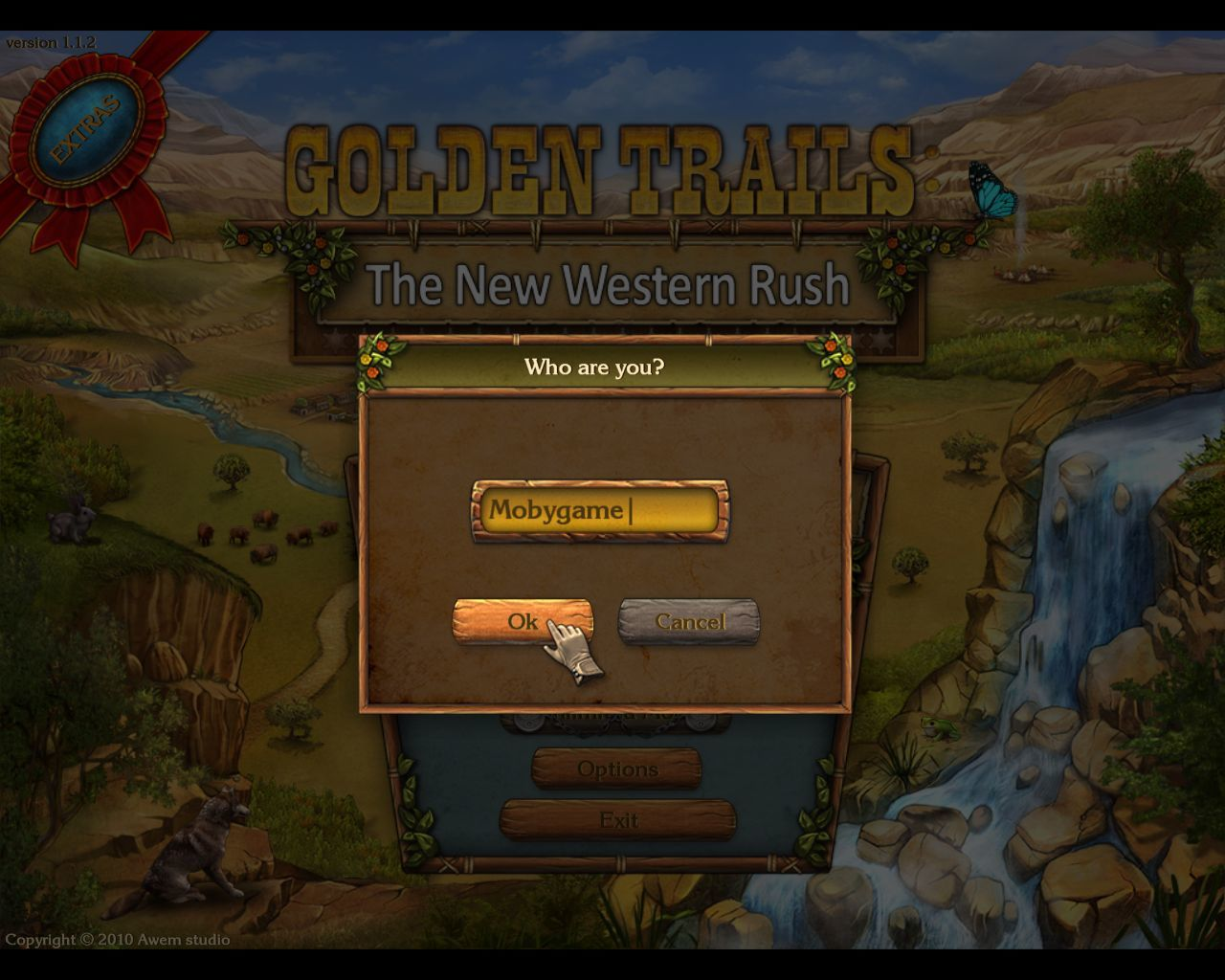 Golden Trails: The New Western Rush Macintosh Player name