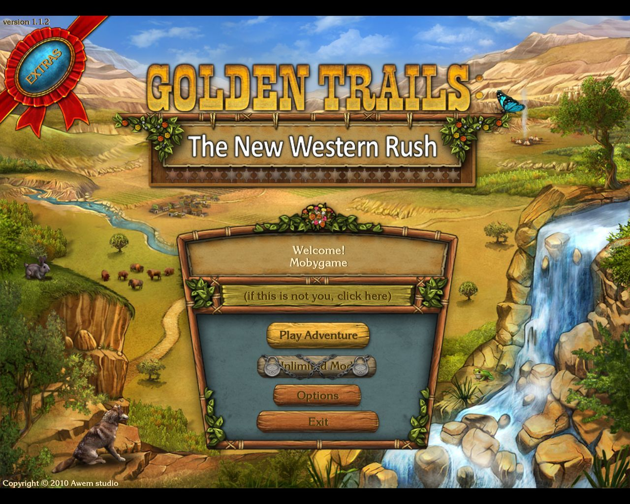 Golden Trails: The New Western Rush Macintosh Main menu
