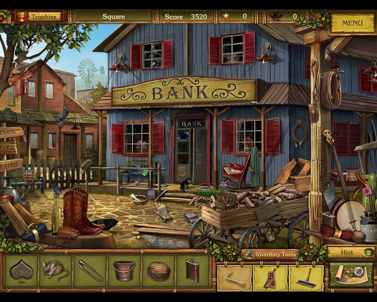 Golden Trails: The New Western Rush Macintosh Square - objects