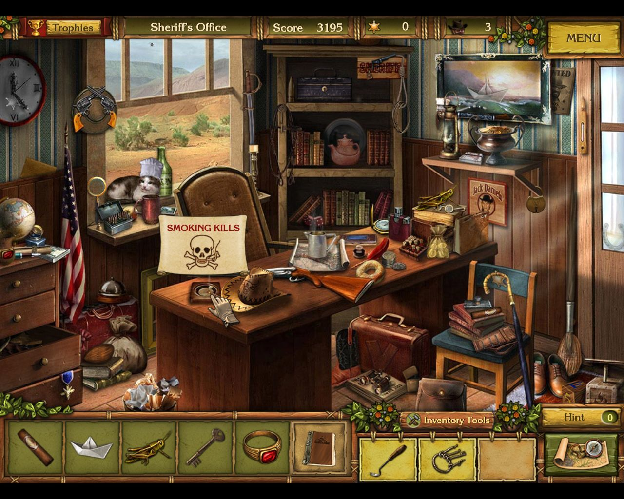 Golden Trails: The New Western Rush Macintosh Sheriff's office - objects (smoking kills)